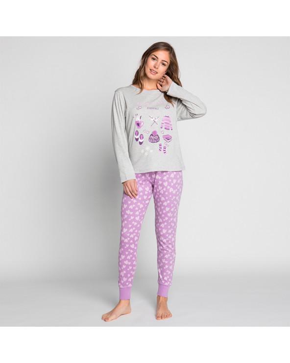 KAYSER Pijama Algodón 60.1183 Violeta