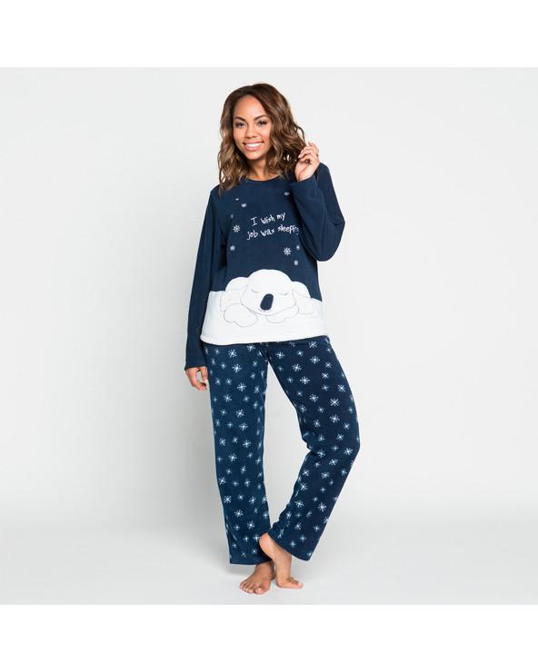 KAYSER Pijama Dama Polar 60.1187 Azul