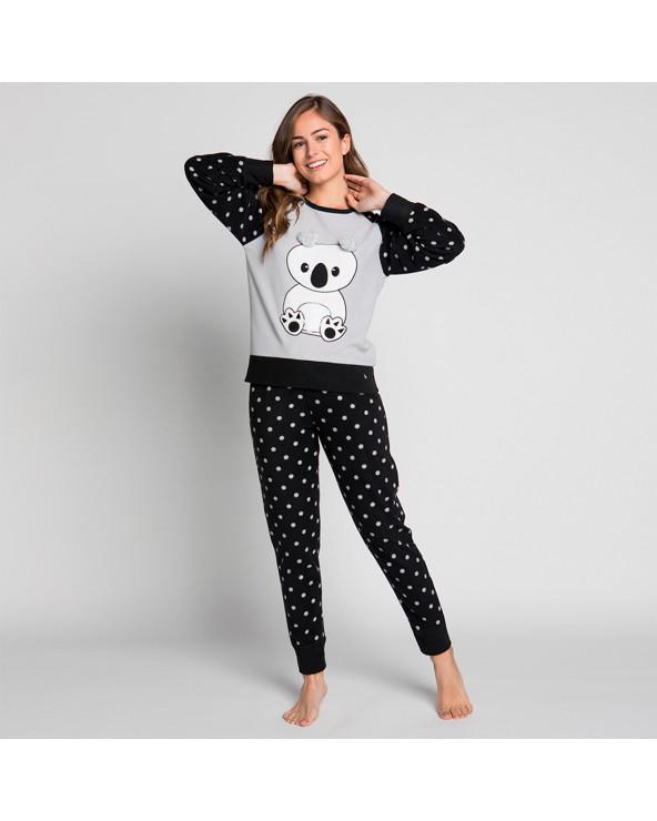KAYSER Pijama Dama Polar 60.1189 Negro