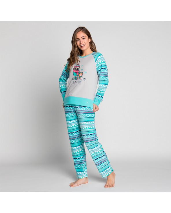 KAYSER Pijama Dama Polar 60.1191 Esmeralda