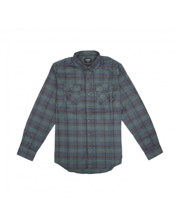 Huntington Camisa M/L Franela Cuadros 62