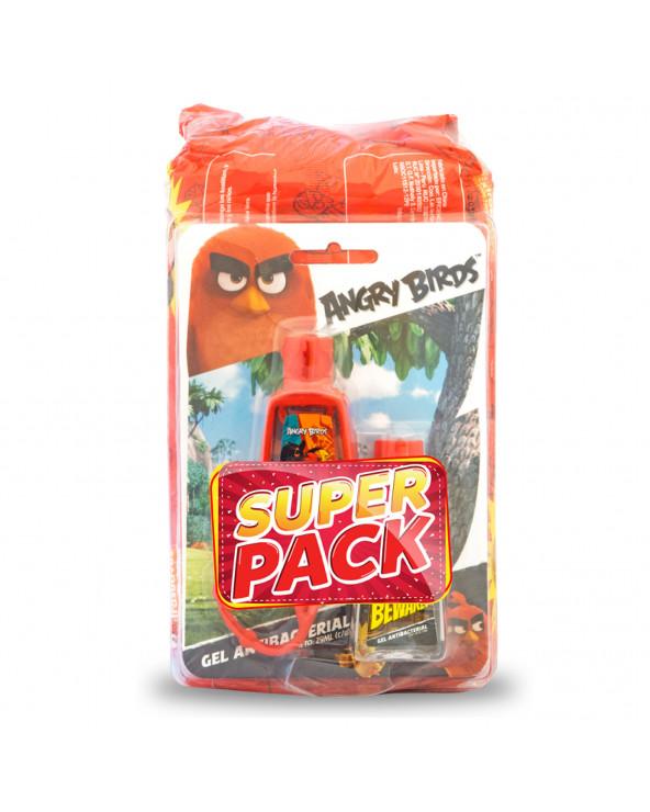 Angry Birds Toalla Húmeda 80 + Gel Antibacterial 2X29