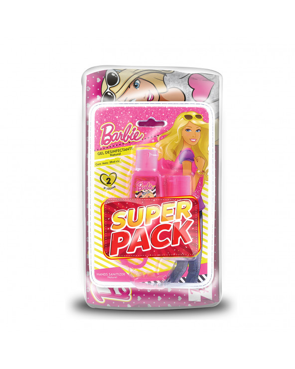 Barbie Toalla Húmeda 80u. + Gel Antibacteria 2 x 29