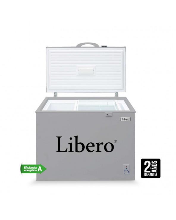 CONGELADORA LIBERO HORIZONTAL GRIS 300LT